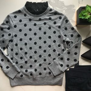 Halogen Black And Grey Polka Dot Sweater
